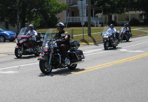 Motor Officer Escorting the Motor Unit Ride