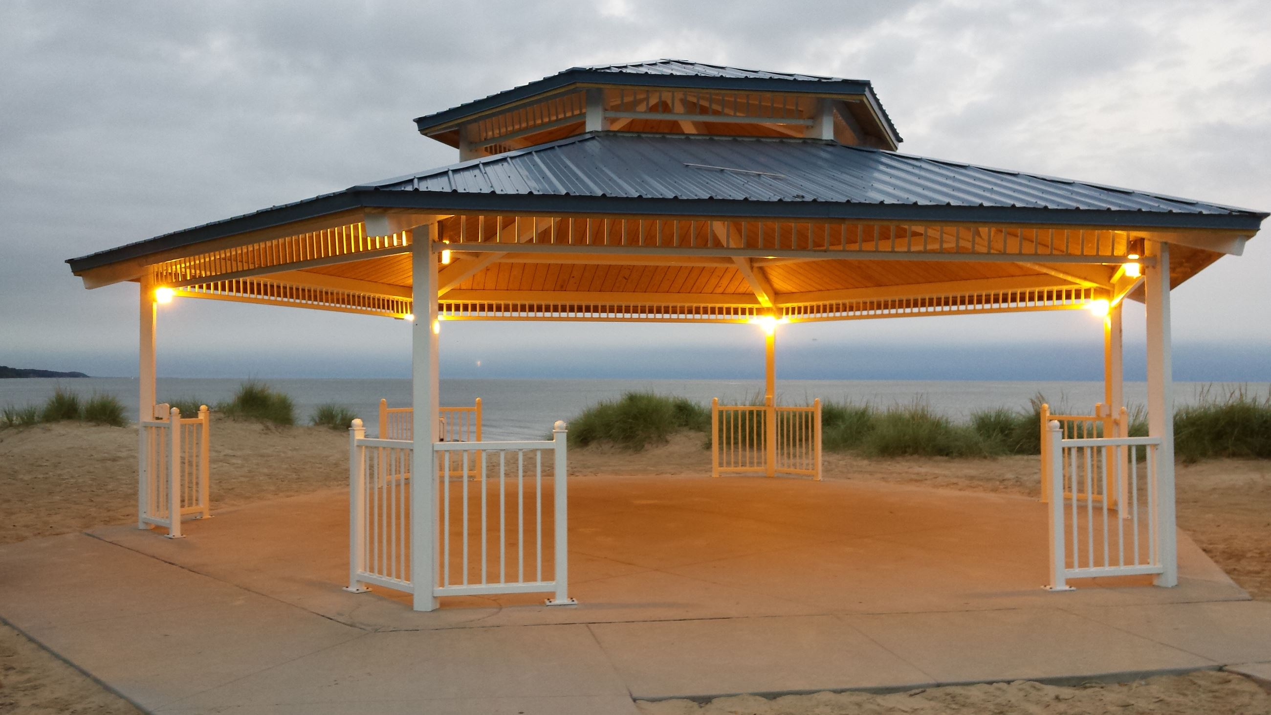 Dunes Pavilion Lights On